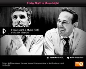 Friday Night Is Music Night - Bacharach & David